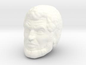 Melaktha Head in White Processed Versatile Plastic