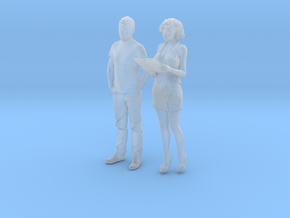 Printle C Couple 1971 - 1/87 - wob in Smooth Fine Detail Plastic