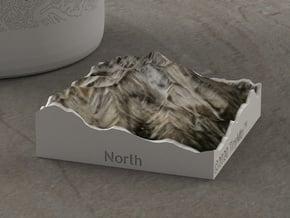Borah Peak, Idaho, USA, 1:100000 in Natural Full Color Sandstone