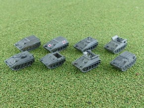 Hotchkiss SPz Kurz APC Variants 1/285 6mm in Smooth Fine Detail Plastic