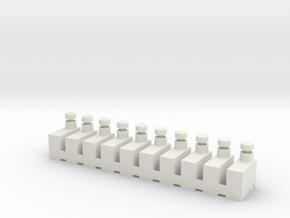 Schalterfassung10x5mm für Gleisbildstellwerke in White Natural Versatile Plastic