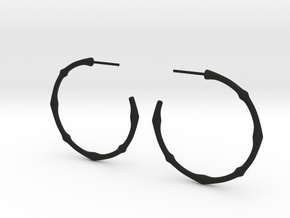 bone earrings in Black Natural Versatile Plastic