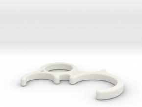 Door opener M-size in White Natural Versatile Plastic: Medium