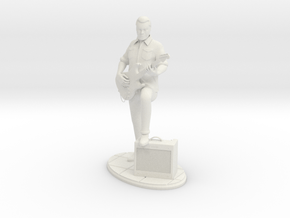 Guitar Player in White Natural Versatile Plastic
