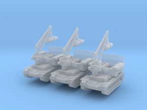 Munitionsschlepper Pz IV 60cm (x3) 1/285 in Smooth Fine Detail Plastic