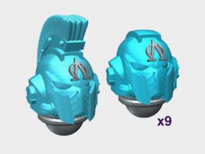 10x Lambda Omega - G:10 Prime Helmets : Squad 1 in Smooth Fine Detail Plastic