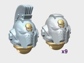 10x Skull - G:10 Prime Helmets : Squad 1 in Smooth Fine Detail Plastic