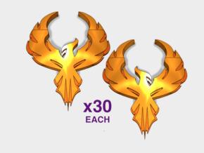 60x Phoenix Crest - Shoulder Insignia pack in Smooth Fine Detail Plastic