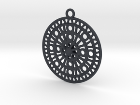 Celtic Ornament, Sanctuary of Hera, Greece (ring) in Black PA12: Extra Large