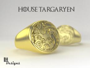 Size 12 Targaryen Ring in Natural Brass