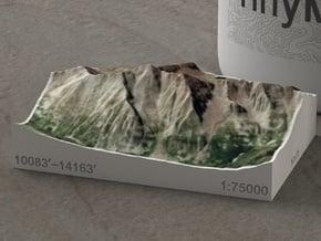 Maroon Bells, Colorado, USA, 1:75000 in Natural Full Color Sandstone