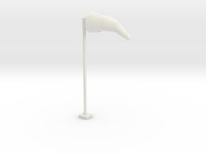 Airport Windsock and Pole 1/76 in White Natural Versatile Plastic