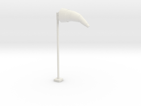 Airport Windsock and Pole 1/72 in White Natural Versatile Plastic