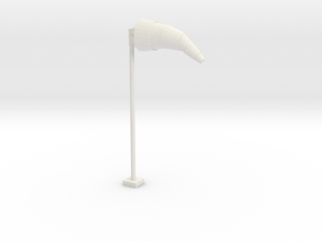 Airport Windsock and Pole 1/24 in White Natural Versatile Plastic