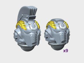 10x- Ultra Laurels - G:10 Prime Helms : Squad1 in Smooth Fine Detail Plastic