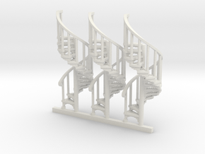 S-87-spiral-stairs-market-1a in White Natural Versatile Plastic