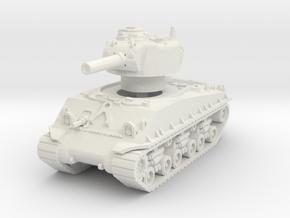 M4A3 Sherman HVSS 105mm 1/56 in White Natural Versatile Plastic