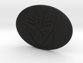 Toyota steering wheel emblem overlay Decepticon in Black Premium Versatile Plastic