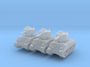 M4A3 Sherman HVSS 105mm (x3) 1/200 in Smooth Fine Detail Plastic