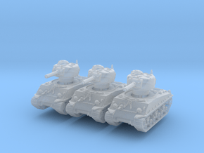 M4A3 Sherman HVSS 105mm (x3) 1/285 in Smooth Fine Detail Plastic