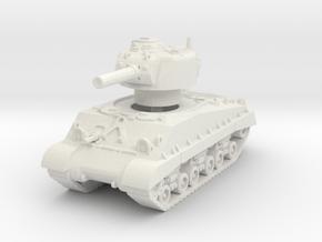 M4A3 HVSS 105mm (sandshield) 1/100 in White Natural Versatile Plastic