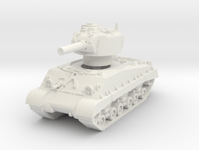 M4A3 HVSS 105mm (sandshield) 1/72 in White Natural Versatile Plastic