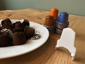 Nespresso coffee capsule opener in White Natural Versatile Plastic