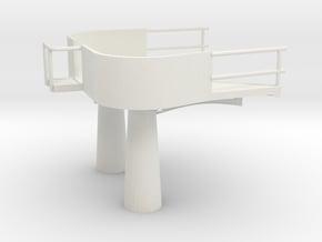 1/72 IJN Akagi Platform for Searchlight Directors in White Natural Versatile Plastic