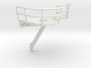 1/72 IJN Akagi Platform for Searchlight in White Natural Versatile Plastic