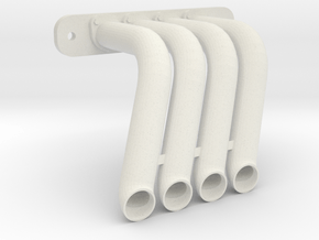 Axial SMT-10 Exhaust Header DP-00 (Right) in White Natural Versatile Plastic