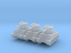 M4A3 HVSS 105mm (sandshield) (x3) 1/200 in Smooth Fine Detail Plastic
