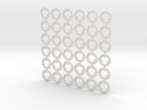 "2WD+4WD - ""No glue !"" - Ø19 / Ø19,5 / Ø20 in White Natural Versatile Plastic"