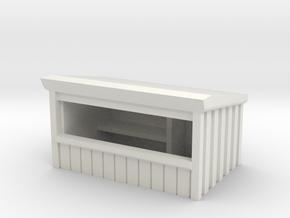 Wooden Market Stall 1/87 in White Natural Versatile Plastic