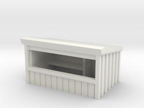 Wooden Market Stall 1/56 in White Natural Versatile Plastic