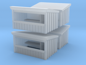 Wooden Market Stall (x4) 1/285 in Smooth Fine Detail Plastic