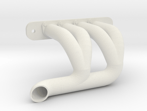 Axial SMT-10 Exhaust Header SH-1A-SHORT (Right) in White Natural Versatile Plastic