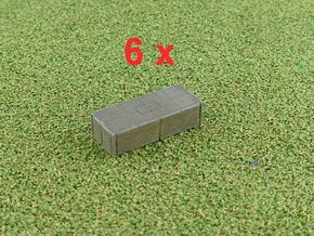 Mexeflote additional pontons 1/285 in Smooth Fine Detail Plastic
