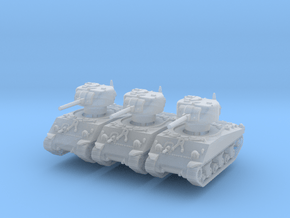 M4A3 Sherman 75mm (x3) 1/285 in Smooth Fine Detail Plastic