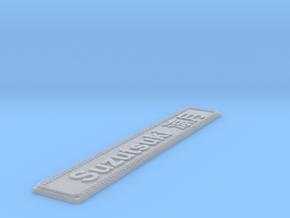 Nameplate Suzutsuki  涼月 in Smoothest Fine Detail Plastic