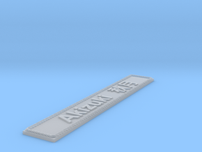 Nameplate Akizuki  秋月 in Smoothest Fine Detail Plastic