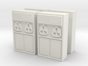 Old Computer Bank (x4) 1/87 in White Natural Versatile Plastic