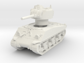 M4A3 Sherman 75mm late 1/100 in White Natural Versatile Plastic