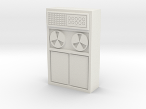 Old Computer Bank 1/12 in White Natural Versatile Plastic