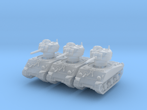 M4A3 Sherman 75mm late (x3) 1/285 in Smooth Fine Detail Plastic