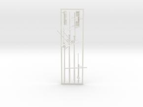 1/350 CSS Alabama Masts & Bridge in White Natural Versatile Plastic
