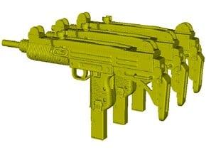 1/12 scale IMI Uzi submachineguns x 3 in Smooth Fine Detail Plastic