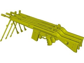 1/12 scale Heckler & Koch G-3A3 rifles B x 3 in Smooth Fine Detail Plastic