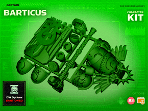 Character Kit: Captain Barticus in Smooth Fine Detail Plastic
