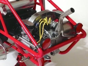 FA10002 Engine Exhaust for Tamiya Wild One, FAV in White Processed Versatile Plastic