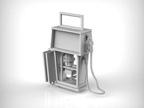 Gas Pump 01.1:48 Scale in Smooth Fine Detail Plastic
